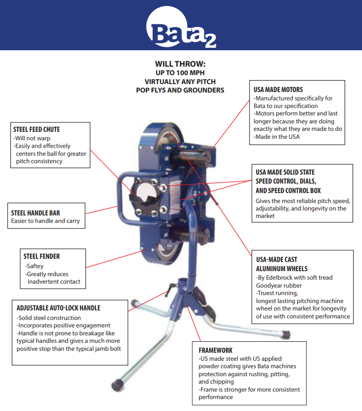 Bata B-2 Pitching Machine